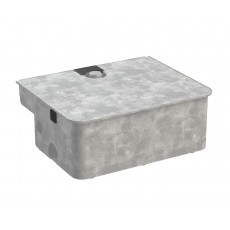 FU101 Roger Technology Steel Foundation Box and Lid (Hot Galvanised)